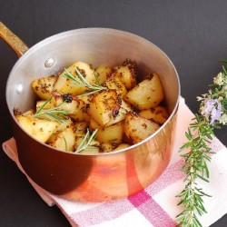 Honey rosemary roasted potatoes