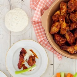 Hot Wings with Blue Cheese Mayo