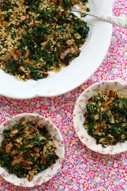 Kale, Coconut and Durum Wheat Salad