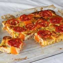Kumara Sweet Potato Bacon Savory Quiche Slices
