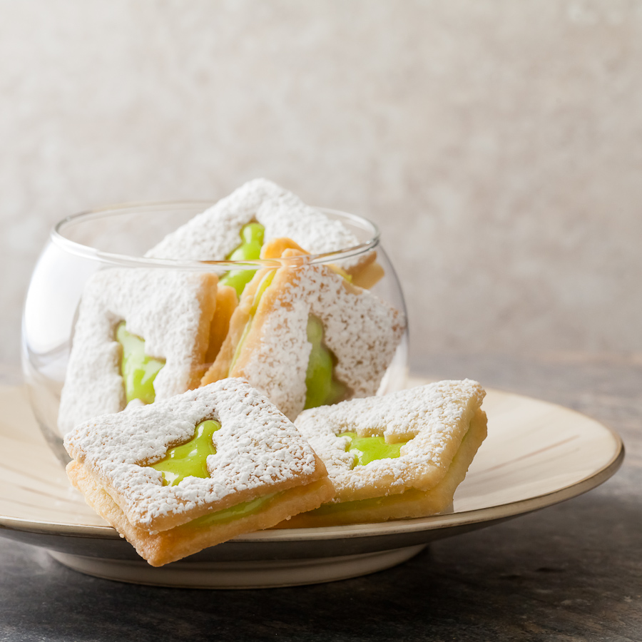 Lime Linzer Cookies