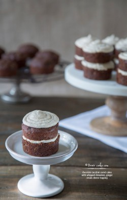 Mini Chocolate Zucchini Carrot Cake