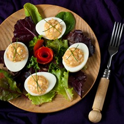 Obatzda Stuffed Eggs