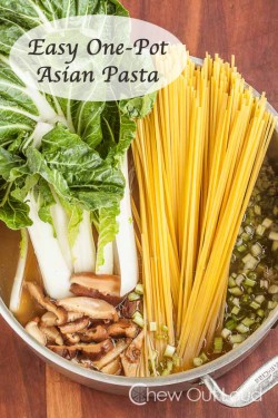 One Pot Asian Pasta