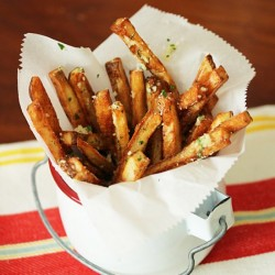 Oven Roasted Fries w Garlic Butter