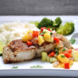 Pan-Seared Mahi Mahi with Mango