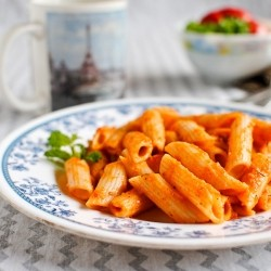 Pasta with Red Bell Pepper Sauce Recipe