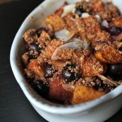 Peach Blueberry Coconut Crisp Recipe