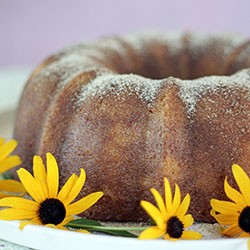 Peaches and Cream Bundt