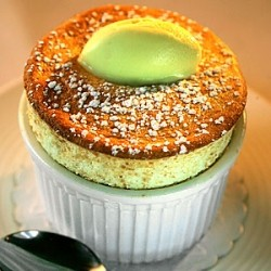 Pineapple Souffle with Thai Curry Ice Cream