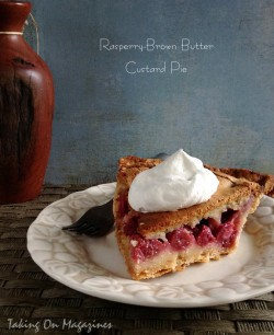 Raspberry-Brown Butter Custard Pie