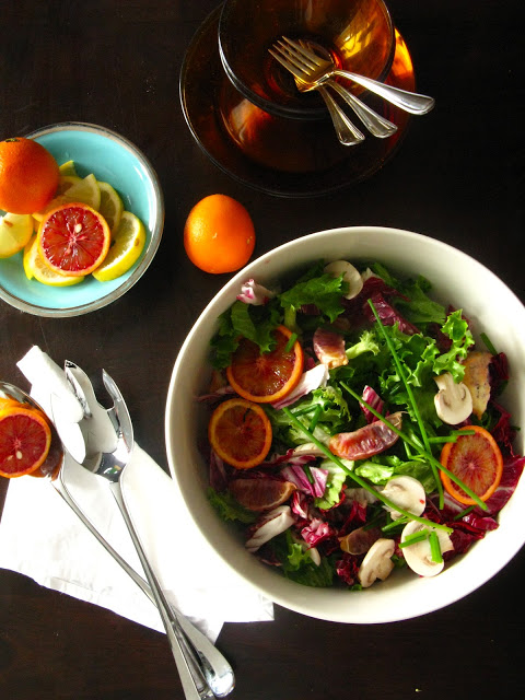 Red Cabbage and Blood Orange Salad
