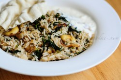 Rice with Greens and Indian Spices