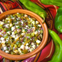 Roasted Hatch Chile-Peach Salsa