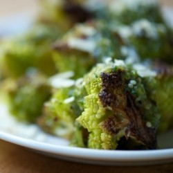 Roasted Romanesco with Salsa Verde