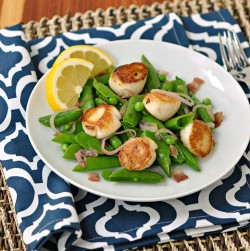 Seared Scallops with Snap Peas and