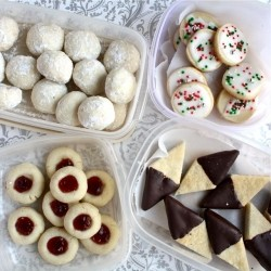 Shortbread, 1 recipe, 4 cookies
