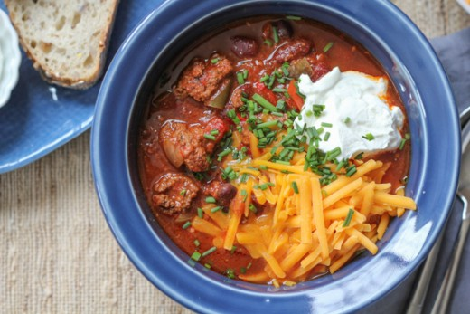 Slow Cooker Cheeseburger Chili