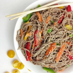 Soba Noodle Salad with Rice Wine
