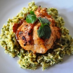 Southwest Chicken and Cilantro Pesto Orzo