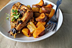 Spiced Chipotle Honey Chicken and Sweet Potatoes