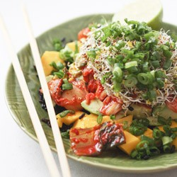 Spicy Mango Veggie Black Rice Bowls