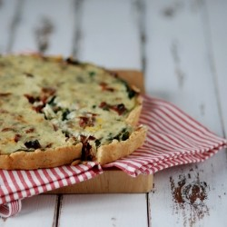 Spinach and sundried tomato tart
