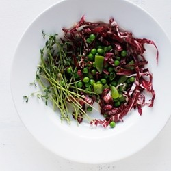 Spring Pea and Radicchio Salad