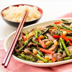 Steak and Asparagus Stir-Fry