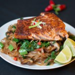 Sticky Salmon with Chilli Noodles