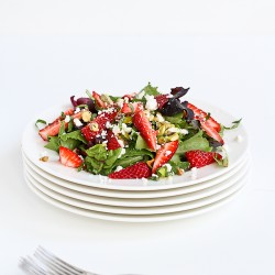 Strawberry Pistachio Feta Basil Salad Recipe