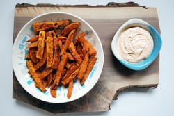 Sweet Potato Fries with Ranch Dipping Sauce