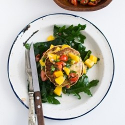 Sweetcorn Fritters and Mango Salsa