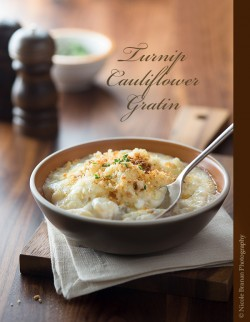 Turnip Cauliflower Gratin