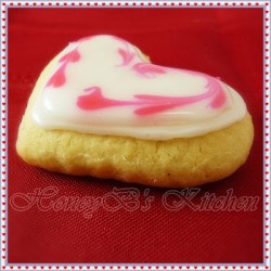Valentine Cutout Sugar Cookies with Glace