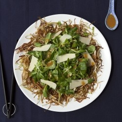Valerian and Leek Crisp Salad