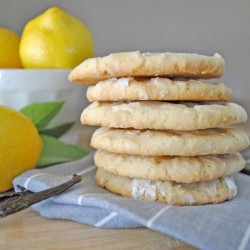 Vanilla Bean Lemon Crinkle Cookies