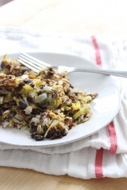 veggie burger hash browns