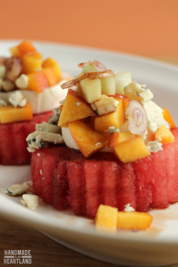 Watermelon Peach Cucumber Salad
