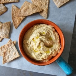 Whole Wheat Tortilla Chips and Hummus