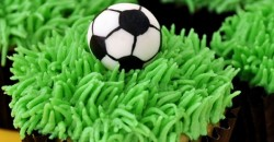 World Cup Corn Cupcakes