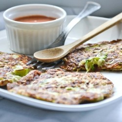 Zucchini and mint fritters