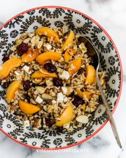 Apricots and Almond Wild Rice Salad Recipe