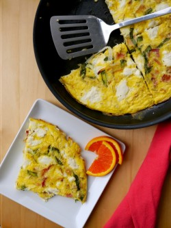 Bacon, Onion, and Ricotta Frittata