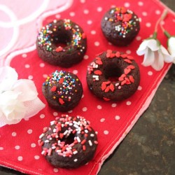 Baked Dark Chocolate Doughnuts