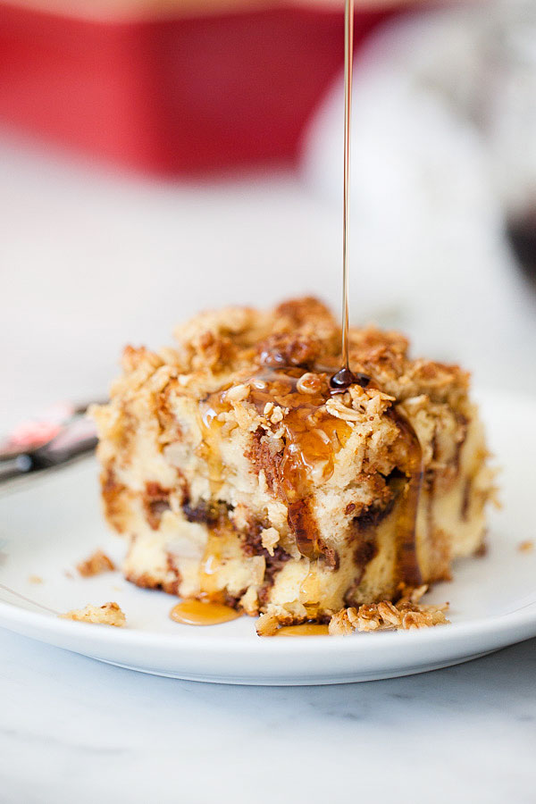 Banana Choc Chip Baked French Toast