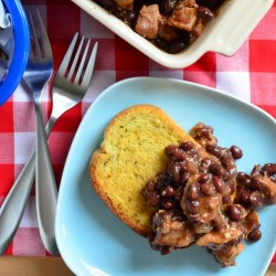 Barbecue Pork and Black Beans