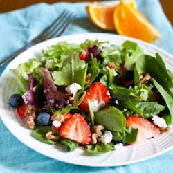 Berry Goat Cheese Walnut Salad Recipe