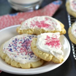 Big Frosted Holiday Sugar Cookies