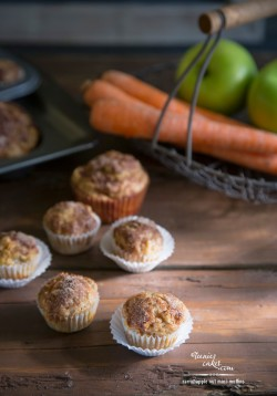 Carrot Apple Nut Mini Muffins